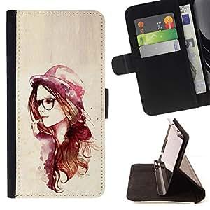 Momo Phone Case / Flip Funda de Cuero Case Cover - Rosa del inconformista de la acuarela;;;;;;;; - Samsung Galaxy S3 III I9300