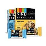 KIND Breakfast Bars Variety Pack, Blueberry Almond & Honey Oat, Gluten Free, 1.8oz, 16 Count