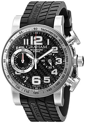 Graham Men's 2SAAC.B03A Silverstone Analog Display Swiss Automatic Black Watch