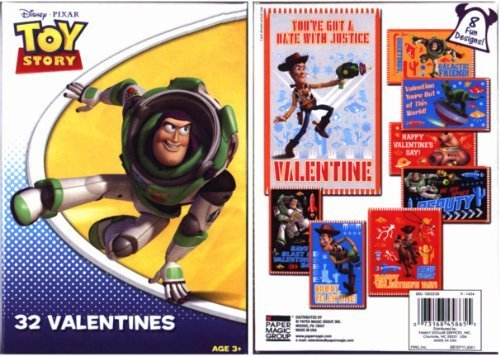 Toy Story Valentines (32 in 8 - Valentine Story Toy Cards