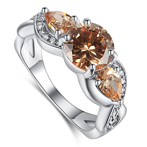 Psiroy Women's 925 Sterling Silver 3.5cttw Morganite Infinity Filled Ring