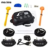 Mockins 2 Collar Wireless Electric Pet Fence The Wireless Dog Fence System is Safe for Pets Includes a Waterproof Receiver Collar a Rechargeable Battery and as a Control Range of Up to 1600 Feet … … …