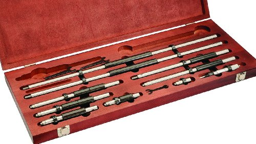 "Starrett 128AZ Vernier Inside Micrometers Set, 6-78"" Rang..."