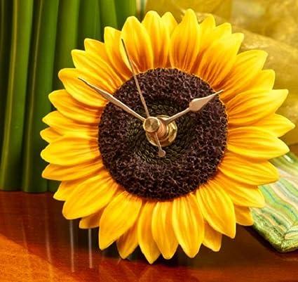 Gentil Sunflower Clock   Hand Painted Flower Clock By Ibis U0026 Orchid Designs