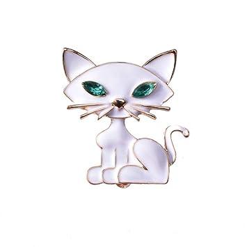 SKYyao Broche, Broches para Ropa Mujer Broches para Ropa Mujer Animales Broche de Gato Blanco pequeño con Aceite de Goteo: Amazon.es: Hogar