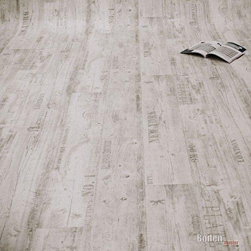 PVC Bodenbelag Rustikal Hell mit Aufdruck Breite 2 m (9,95 € p. m²)