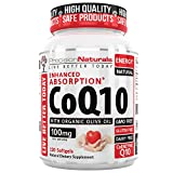 Coenzyme Q10 CoQ10 100mg Softgels/Capsules High Absorption Ubiquinone Supplement 120 Count Vitamin for Your Heart Health/Fertility With Organic Olive Oil