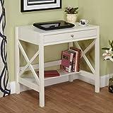 X Desk, Antique White Review