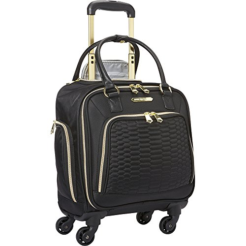 """Aimee Kestenberg Women's Florence 16"""" Polyester Twill 4-Wheel Underseater Carry-on Luggage, Black"""