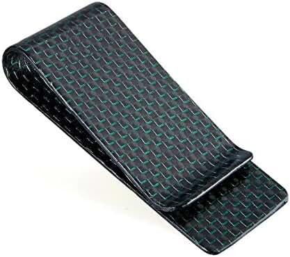 CL Carbonlife(TM) Carbon Fiber Matte and Glossy Money Clip Credit Card Business Card Holder M