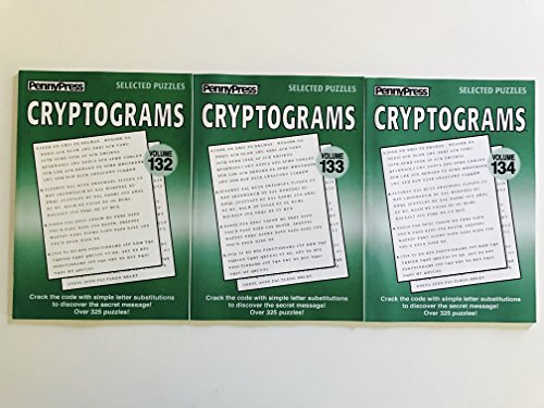 Issue numbers 132, 133 and 134 of CRYPTOGRAMS Word Games PUZZLES from Dell Collectors Series ()