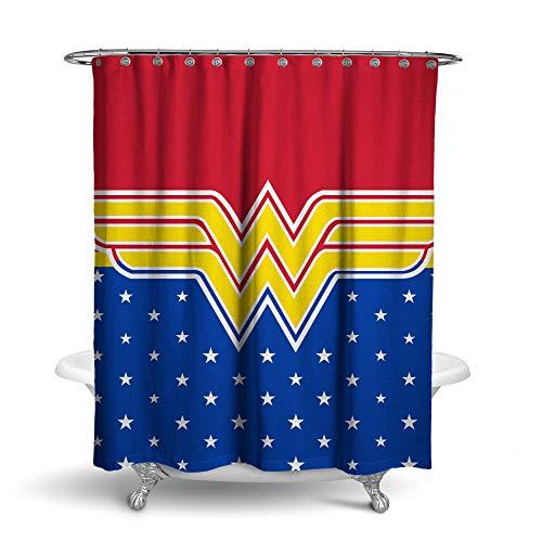 Robe Factory DC Comics Wonder Woman Stars Shower Curtain -