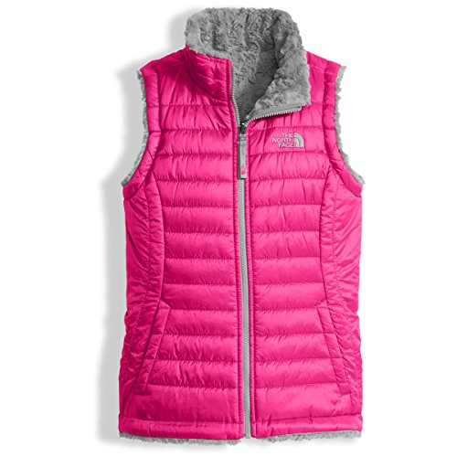 The North Face Girl's Reversible Mossbud Swirl Vest - Petticoat Pink - L (Past Season) -