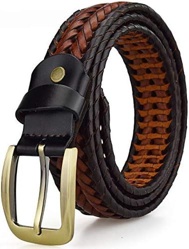ZUOZUO Cinturón Cinturón Tejido Correa Tejida para Hombres Correa De Cuero De Cuero para Hombre Correa Tejida A Mano para Hombres Pantalones Vaqueros para Hombres