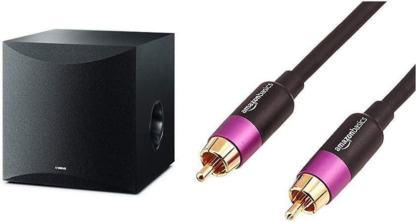 Yamaha Ns Sw100 Black 50w Subwoofer 25 180hz Black Amazon Basics Pbh 19089 Subwoofer Cable 4 6m Mp3 Hifi