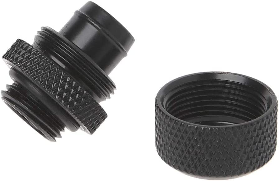 Huilier G1//4 3//8ID X 1//2OD 9.5x12.7mm Tubing Hand Compression Fittings Water Cooling