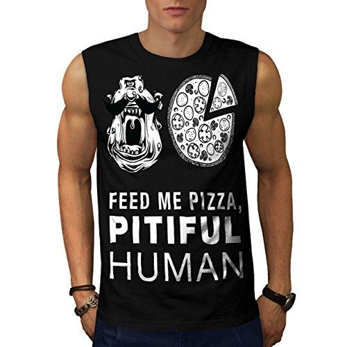 Monster Junk Slogan Food Men L Sleeveless T-shirt | Wellcoda
