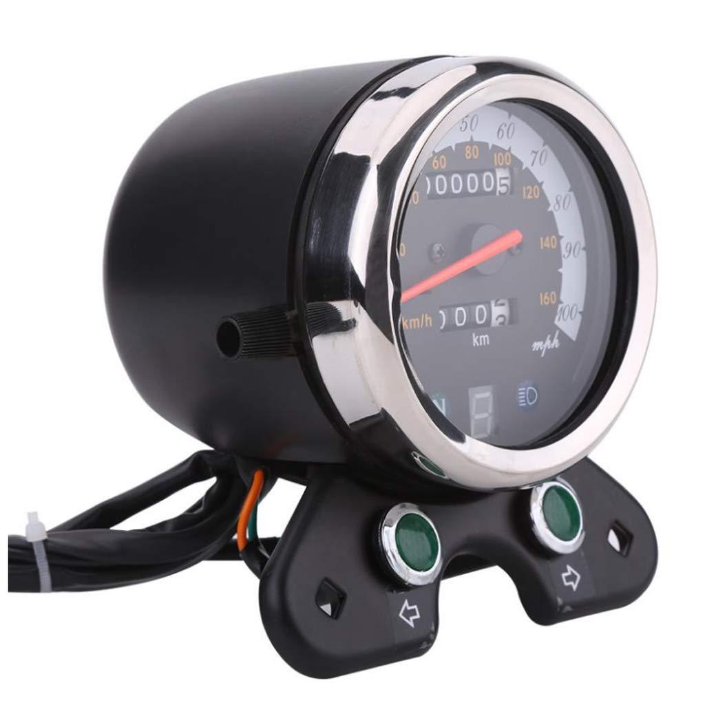 Homyl Odómetro Velocímetro Retroiluminado de Reemplazo para Moto Cafe Racer: Amazon.es: Coche y moto