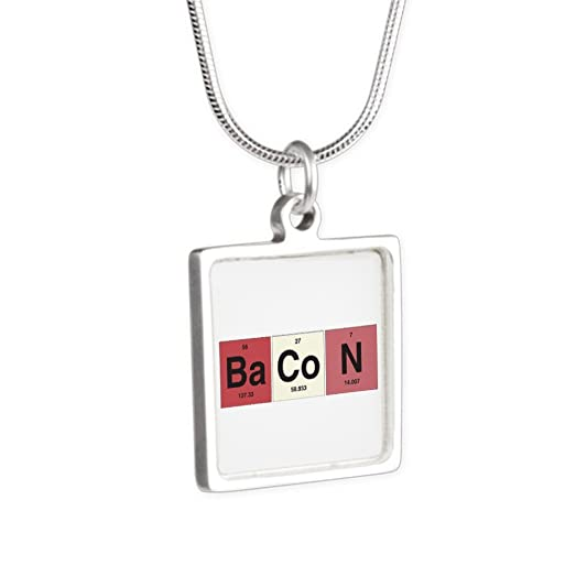 Amazon silver square necklace bacon periodic table of elements silver square necklace bacon periodic table of elements urtaz Image collections