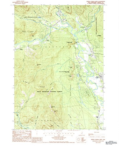 USGS Historical Topographic Map | 1987 North Conway West, NH |Fine Art Cartography Reproduction - Of Conway Map North Nh
