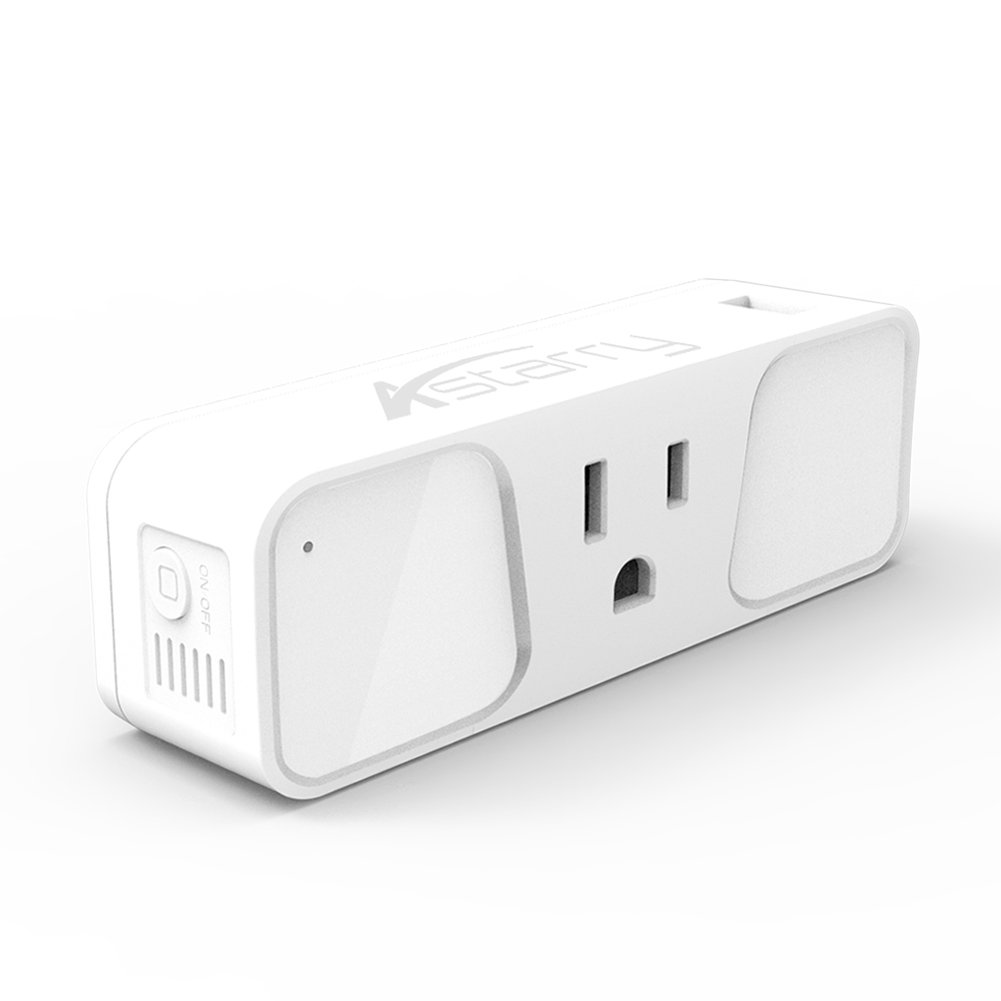 Wi-Fi Smart Plug, Astarry Mini Outlets Smart Socket No Hub Required Compatible with Alexa and Google Assistant USB Charger 5V 2.1A,support Android and IOS APP,15A