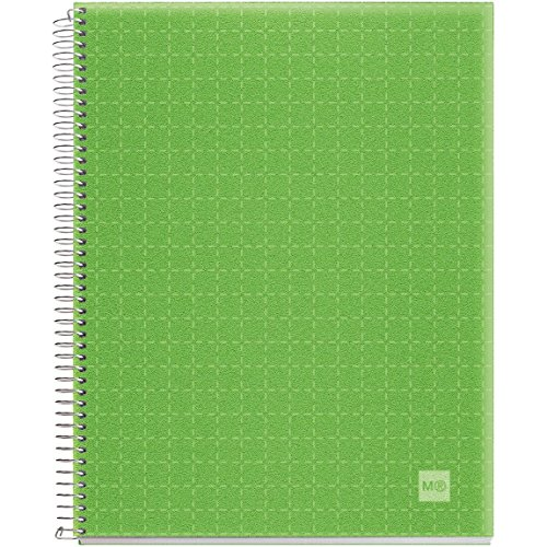 Candy Colors Spiral-Bound Ruled Notebook 8.5x11-Apple Green