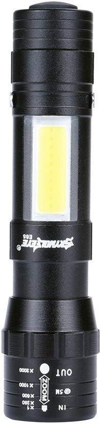 huichang LED Taschenlampe Extrem Hell mit Zoom Funktion 5 Modi XPE Q5 Taschenlampe + Batterie COB LED