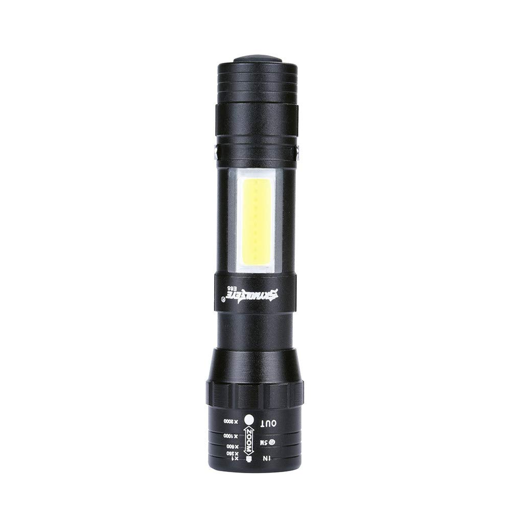 POLPqeD Linterna XPE Q5 + COB LED Mini linterna 14500 / AA 4 modos de antorcha de bolsillo linterna 100000 horas linterna led linterna frontal infantil SOS linterna led pequeñ a Seguridad