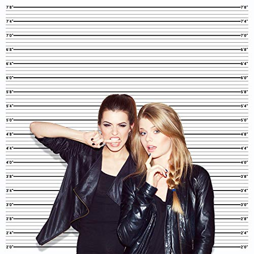 Mugshot Photo Booth Backdrop Banner - 6x6ft, Wide Enough for everyone, Accurate Measurements for Bachelorette Party, Girls Night Out, Height Charts ()