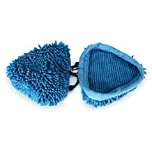 FirstDecor Replacement Washable Coral Microfiber Cloth Pads Covers for H2O Mop X5 Vax X2 Bionaire Steam Mop,Pack of 3 (Blue)