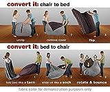 CordaRoy's - Charcoal Chenille Convertible Bean Bag Chair - Queen