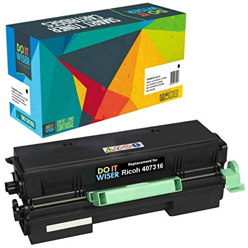 Do it Wiser Compatible Black Toner Cartridge Replacement for Ricoh SP 4510DN SP 3600DN SP 3600DN SP 3600SF SP 3610SF SP 4510SF SP 4500HA - 407316 High Yield 12,000 Pages