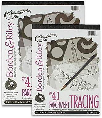 41-25 lb 11x14 Borden /& Riley Parchment Tracing Paper No