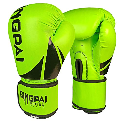 Boxing Gloves for Men Women Kids,PU Leather UFC Training Mitts Gloves for MMA Punching Bag,Kickboxing,Muay Thai Sparring…