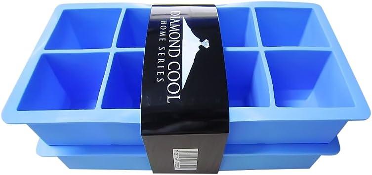 Compra Diamond Cool – 2 Moldes para 8 cubitos de hielo XXL – Molde ...
