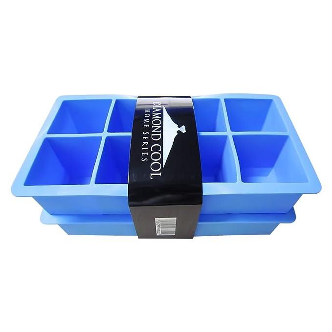Compra Diamond Cool - 2 Moldes para 8 cubitos de hielo XXL - Molde ...