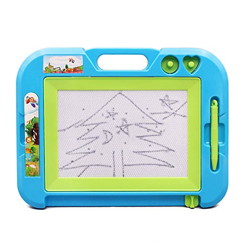happytime-magnetic-board-grey-black-doodle-sketch-erasable-toy-with-2-stampers-and-ruler-for-kids-ch