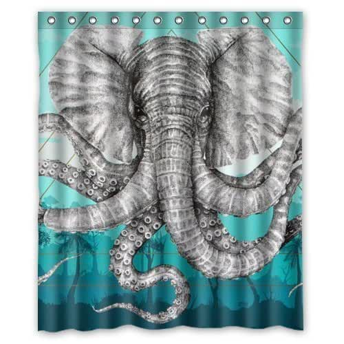 Curtains Ideas best shower curtain hooks : Amazon.com: Elephant Shower Curtain - Shower Curtain Sets / Shower ...