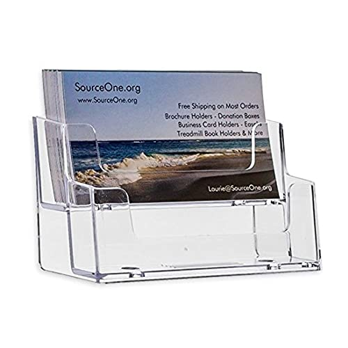 Sourceone 2 tier premium acrylic clear business card holder clear sourceone 2 tier premium acrylic clear business card holder clear xdeep2pclrbc free shipping reheart Gallery