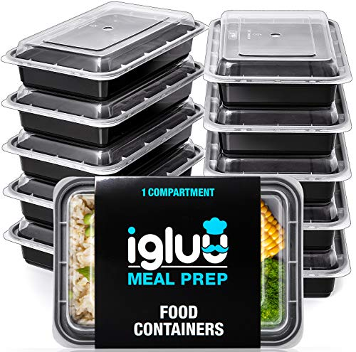 [10 Pack] 1 Compartment BPA-Free Reusable Meal Prep Containers   Plastic...