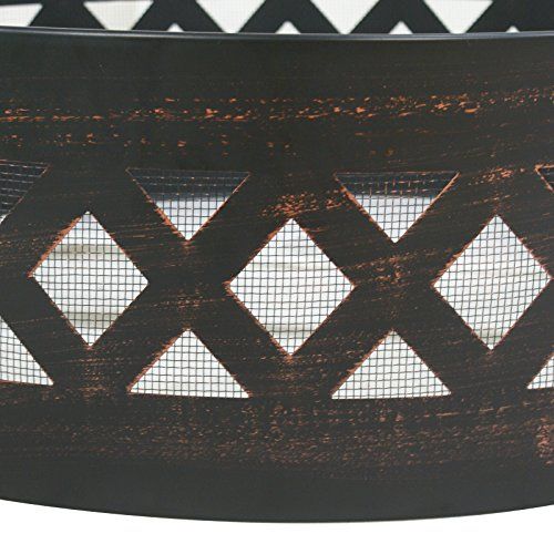 LEMY 37'' Heavy Duty Fire Ring Wilderness Fire Pit Ring Campfire Ring Steel Patio Camping Outdoors by LEMY (Image #4)'