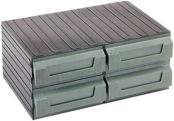 Terry Cassettiere In Plastica.Terry 4039008 Cassettiere Componibili Plastica Servoblock 8 Verde Amazon It Fai Da Te
