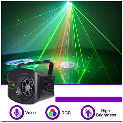 JMG Sound Activated Party LightsRemote Control Dj Lighting 52 Pattern RGB Disco Ball Light for Christmas Home KTV Xmas Wedding Show