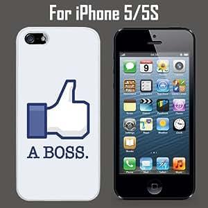 Like A Boss Geek Funny Custom Case/ Cover/Skin *NEW* Case for Apple iPhone 5/5S - White - Rubber Case (Ships from CA) Custom Protective Case , Design Case-ATT Verizon T-mobile Sprint ,Friendly Packaging - Slim Case hjbrhga1544