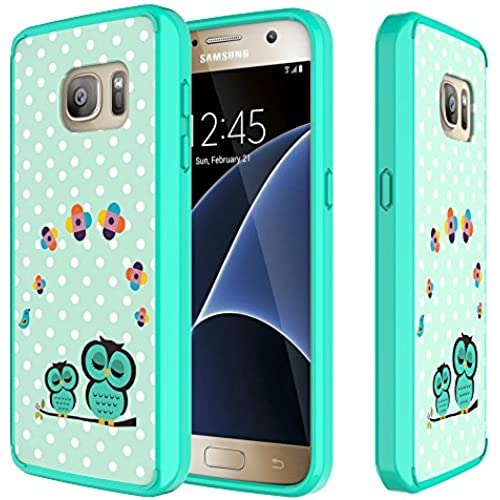 S7 Case, MagicSky [Air Hybrid] Shock-Absorbing Anti-Scratch Ultra Slim Bumper Case with Clear Back Panel Cover for Samsung Galaxy S7 (Owl) Sales