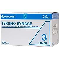 100pcs/box, 3mL Disposable Terumo Syringes Luer Slip Hypodermic without Needle