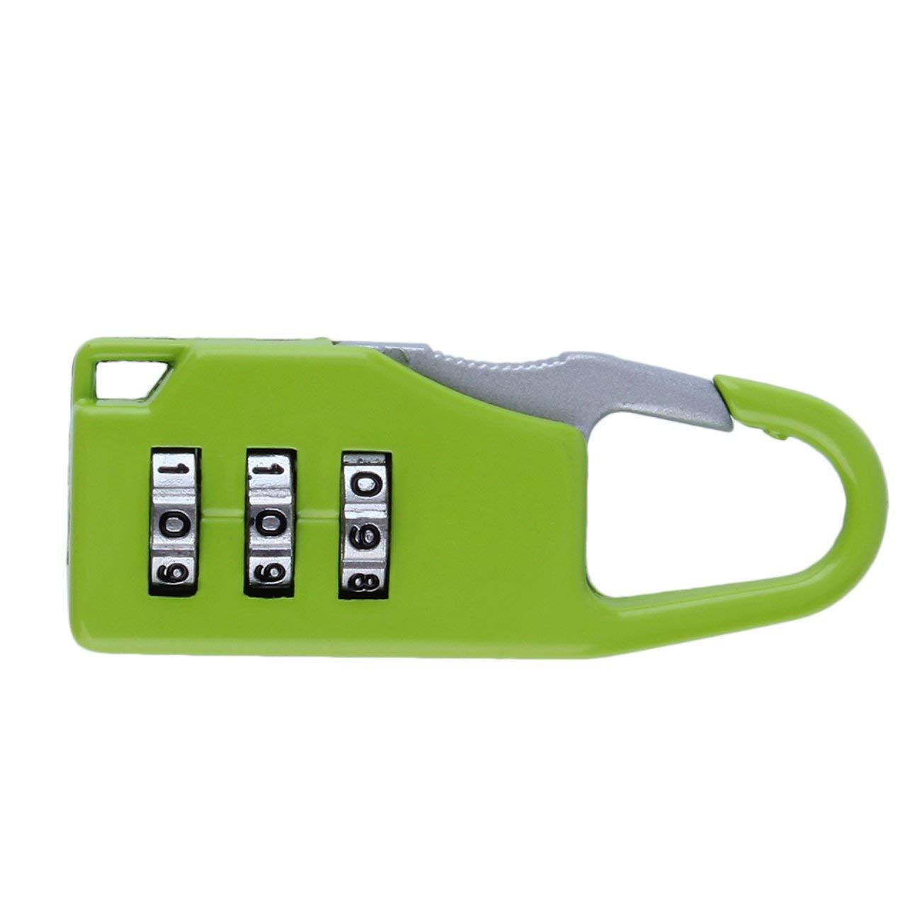 WOSOSYEYO 1 pc New Security 3 Combinaison Voyage en Alliage de Zinc Valise Bagage Bagages Bo/îtes /à Bijoux Bo/îtes /À Outils Verrouillage Code Zipper Cadenas