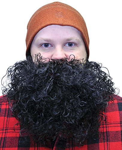 Big Beard Costume (Beard Big And Curly Black Costume Accessory)