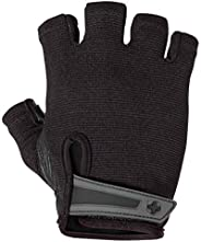 Harbinger Power Non-Wristwrap Weightlifting Gloves with StretchBack Mesh and Leather Palm