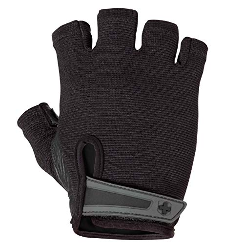 Harbinger Power Non-Wristwrap Weightlifting Gloves with StretchBack Mesh and Leather